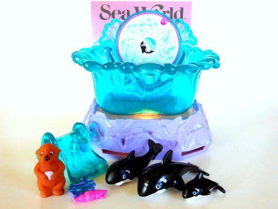 Vintage Littlest Pet Shop Shamu Family Whale Sea World Playset By Kenner 1995 Littlest Pet Shop Pet Shop Playset