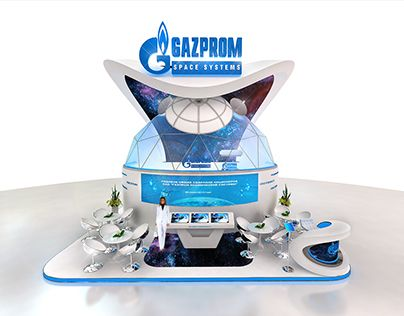 """Check out new work on my @Behance portfolio: """"Exhibition stand Gazprom Space Systems""""…"""