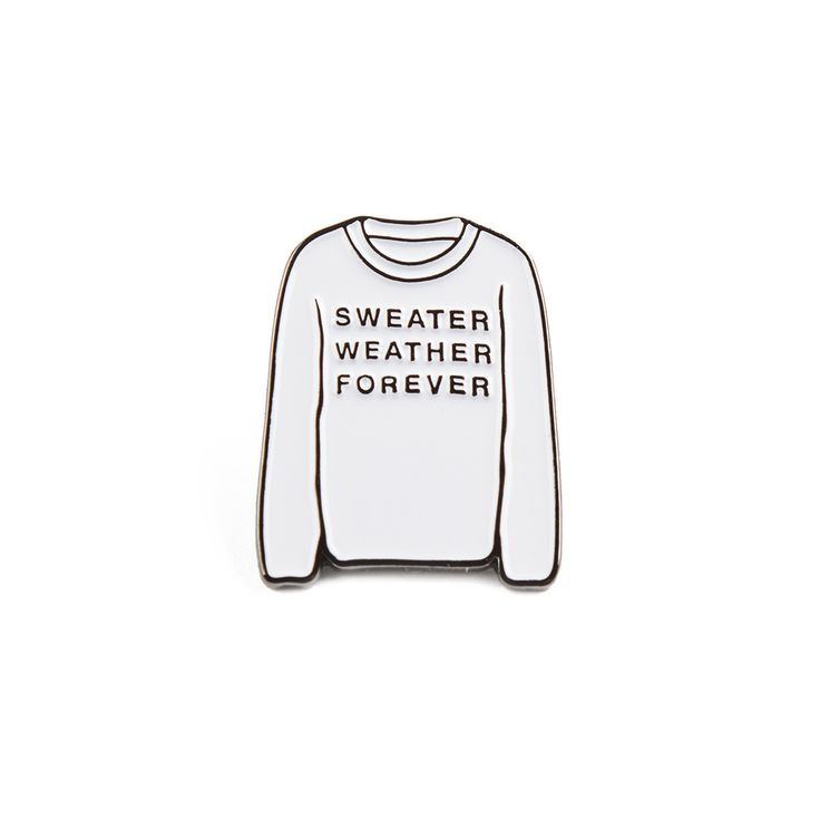Sweater Weather Forever Enamel Pin (White)