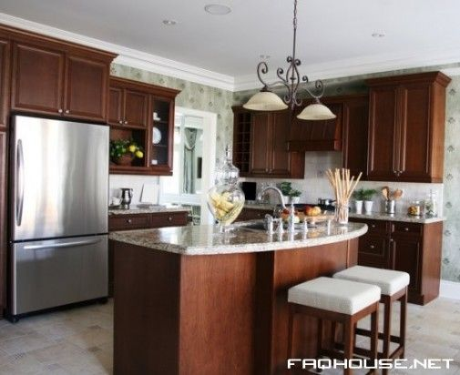 L-shaped Kitchen with Island | Kitchen: Small L Shaped ...