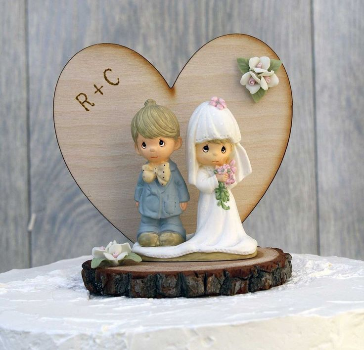 Personalized Precious Moments Rustic Wedding Cake Topper ** You can get additional details at : Baking tools