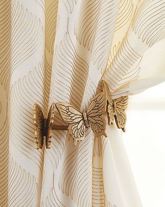 Butterfly Holdback by The Antique Drapery Rod at Neiman Marcus.
