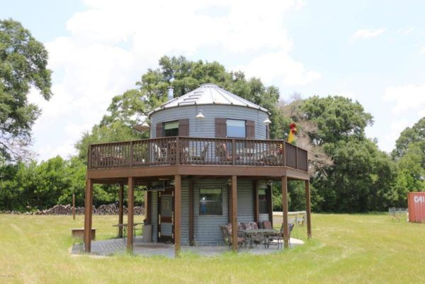 Tiny Silo Home on a Horse Ranch in Lake City, Florida For Sale