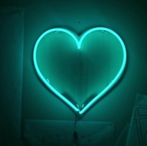 Neon Green Heart Aesthetic Colors Mint Aesthetic Neon Aesthetic