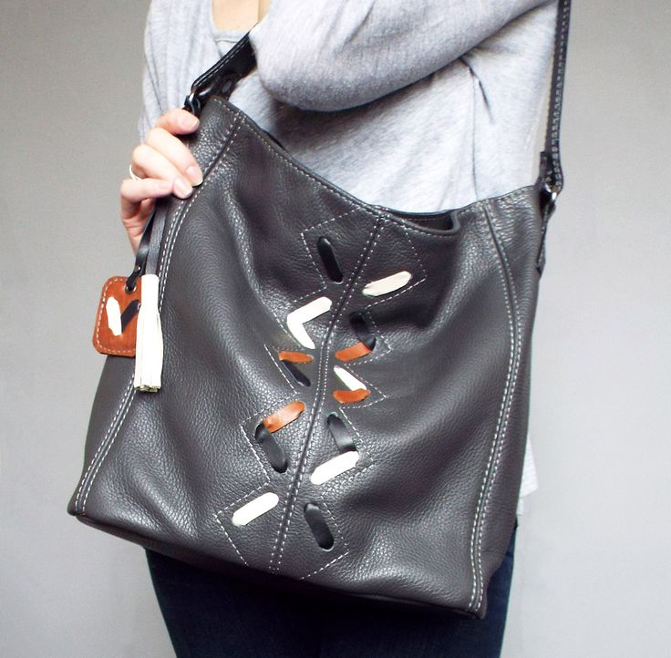 http://handmadeineurope.com/5plus/shop/gray-leather-hobo-bag-grey-leather-shoulder-bag-leather-lacing-bag/
