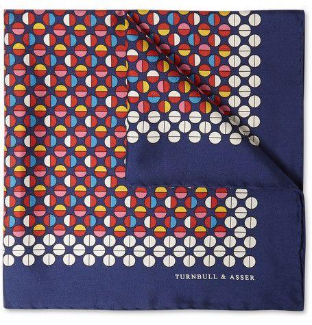 Turnbull & AsserPrinted Silk Pocket Square
