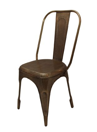Email interiorworx@xtra.co.nz to purchase, New Zealand residents only Gold Industrial Chair 48cmWx49cmDx81cmH -