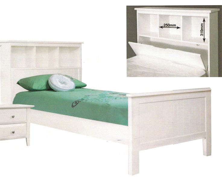 KING SINGLE  ENDLESS BOOKEND BED ( 3-8-12-15-5) - WHITE