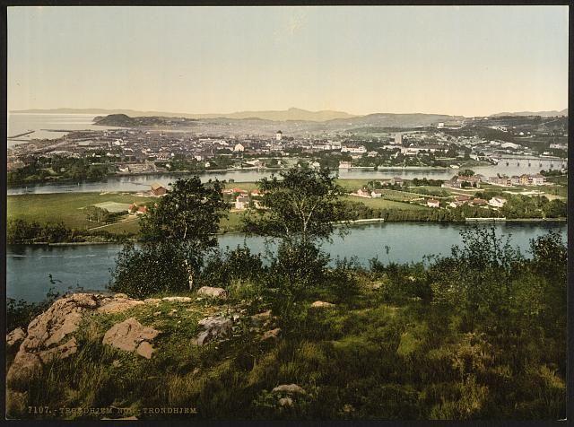 Unike bilder fra gamle Trondheim
