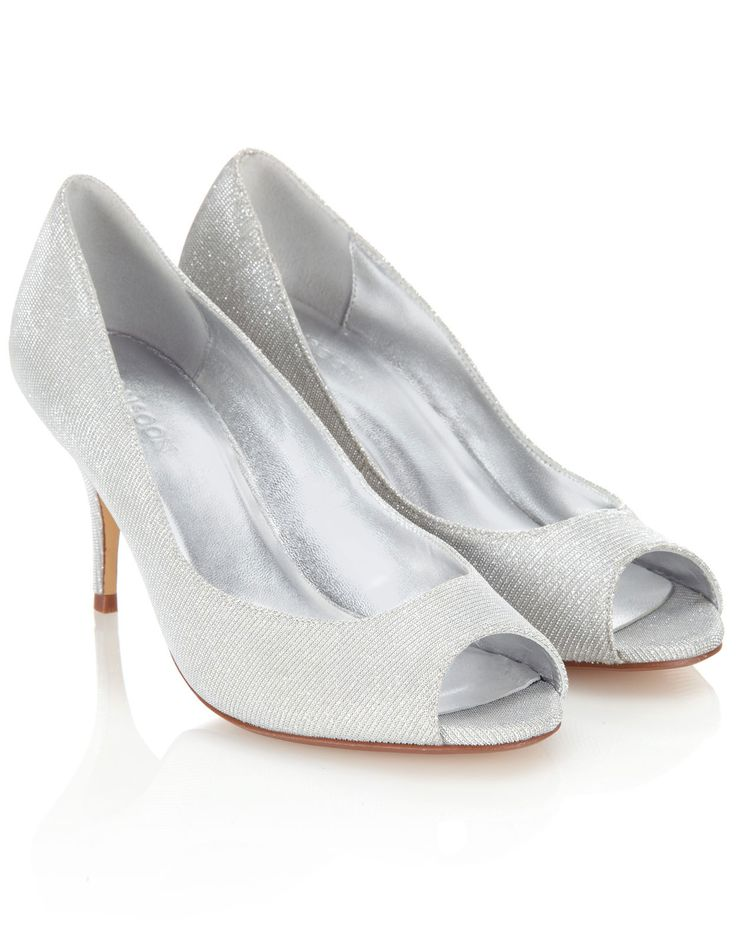 Taira Sparkle Peeptoe | Silver | Monsoon