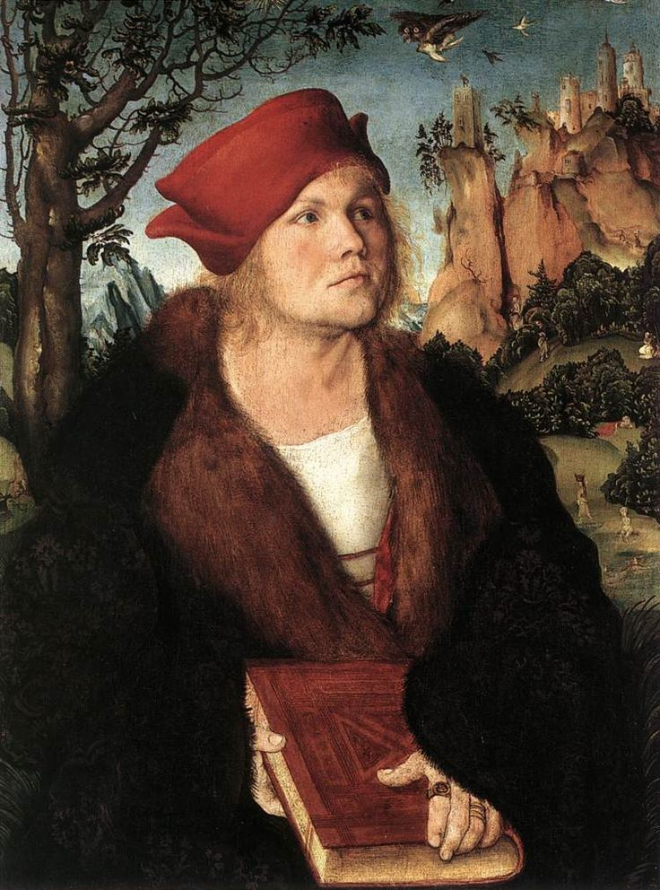 Cranach l'Ancien - Renaissance - Johannes Cuspinian (v. 1502) médecin et professeur de médecine à l'université de Vienne, en Autriche. Il est aussi historien et diplomate au service de l'empereur Maximilien 1er (1459-1519).