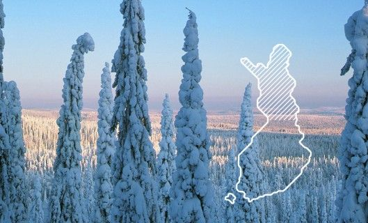 Lapland, the northernmost region in Finland.