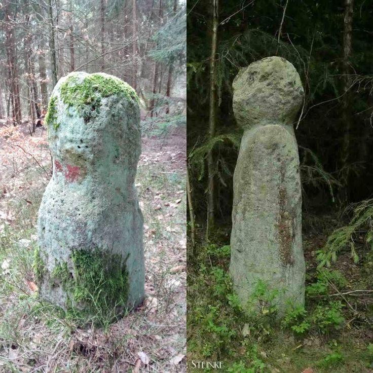 Hier im Vergleich mit dem großen Markmann.  Kleiner Markmann #Menhir #StandingStone #Franken #Bayern - https://www.instagram.com/artpla_net/