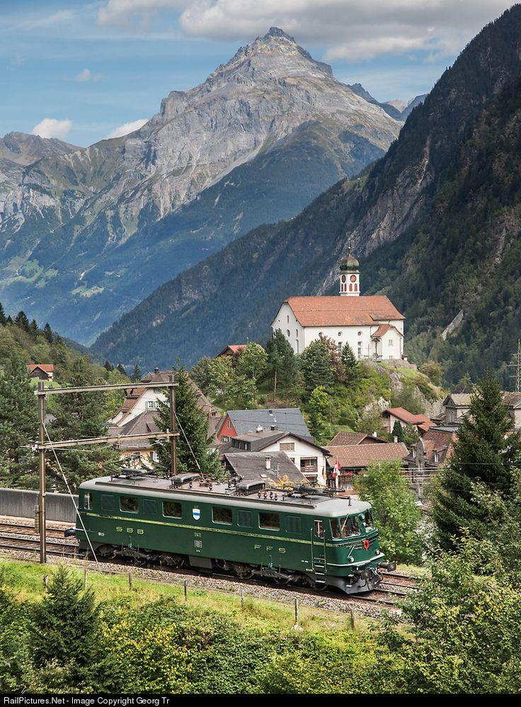 RailPictures.Net Photo: 11411 SBB Historic Ae 6/6 at Wassen, Switzerland by Georg Trüb