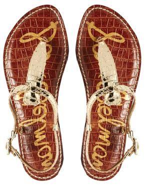 Bild 3 vonSam Edelman Gigi Gold Flat Sandals