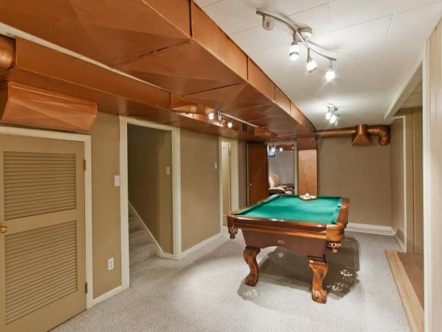 paint the ductwork in old basements great idea for the home