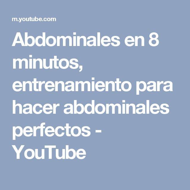 Abdominales en 8 minutos, entrenamiento para hacer abdominales perfectos - YouTube