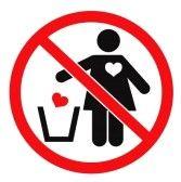 het is verboden om hartjes weg te gooien
