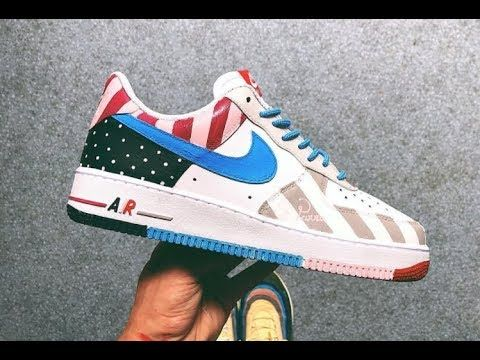 "AF1 ""What if"" Custom Parra x Nike Air Force 1 Low White"