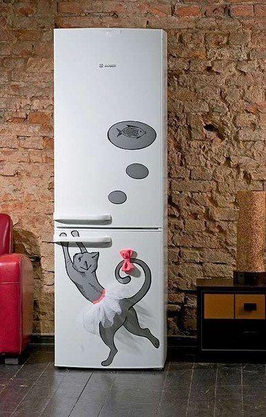 Декорируем холодильник своими руками (фото, мастер-класс)