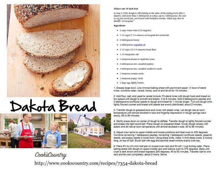 Dakota Bread Recipe from Cook's Country