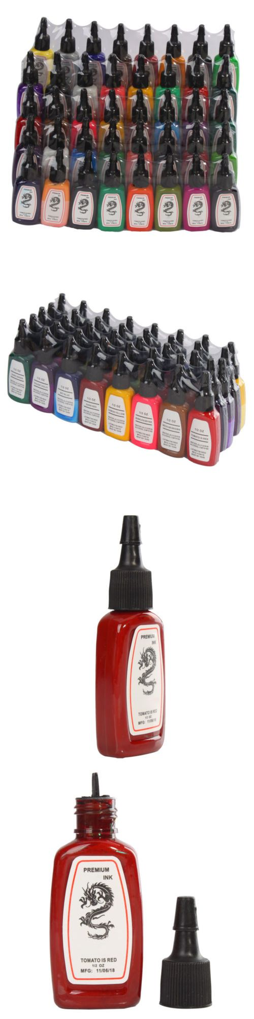 Tattoo Inks: New Pro Tattoo Inks 40 Color 1 2Oz Pigment Set For Tattoo Machine Gun Kit -> BUY IT NOW ONLY: $37.59 on eBay!