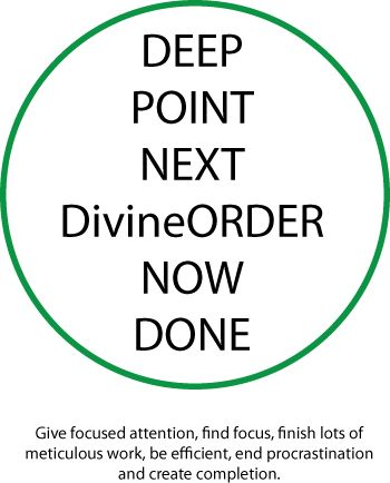 A Switchphrase to create a deep focus and get a lot of work done. Thank you for the Energy Circle, Kevin Dill (http://puredetermination.com)