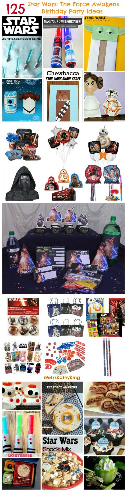 Planning a Star Wars The Force Awakens Party? Our list or 125 Star Wars: The Force Awakens Birthday Party Ideas has everything you need to host an amazing party, Free Printables,  Star Wars The Force Awakens Invitations, Star Wars The Force Awakens Party Supplies, Star Wars  Crafts, Food, Star Wars The Force Awakens Goodie Bag Items, Star Wars The Force Awakens, BB Cup Cakes, Party Favors and Star Wars The Force Awakens Birthday Gift ideas all in one place.