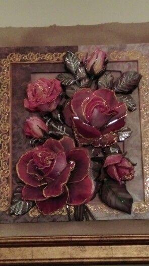 Paper tole 3D rose