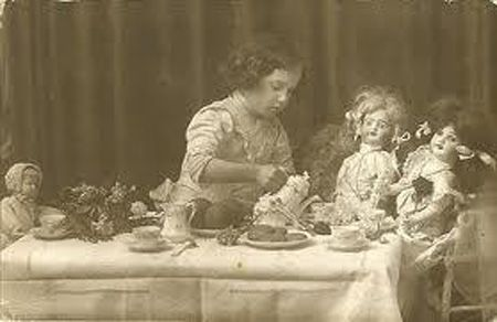 tea party for my dolls …..