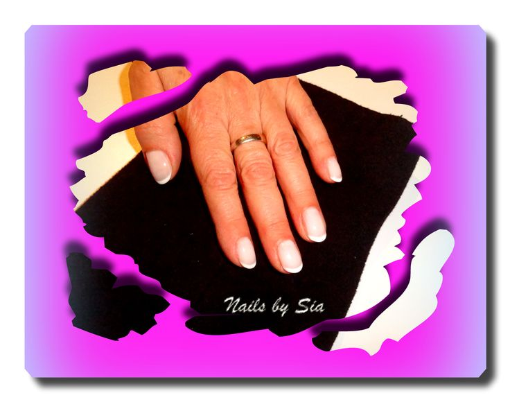 French manicure by Sia with ZOYA nail polish