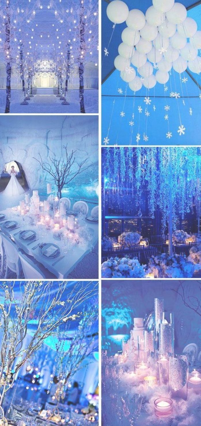 Ice Blue Winter Wonderland Inspired Wedding Ideas In 2020 Winter