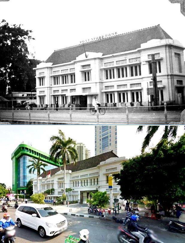 Postspaarbank te Batavia, ca 1934, ,., Bank BTN jl Gajah Mada, Jakarta,  2015