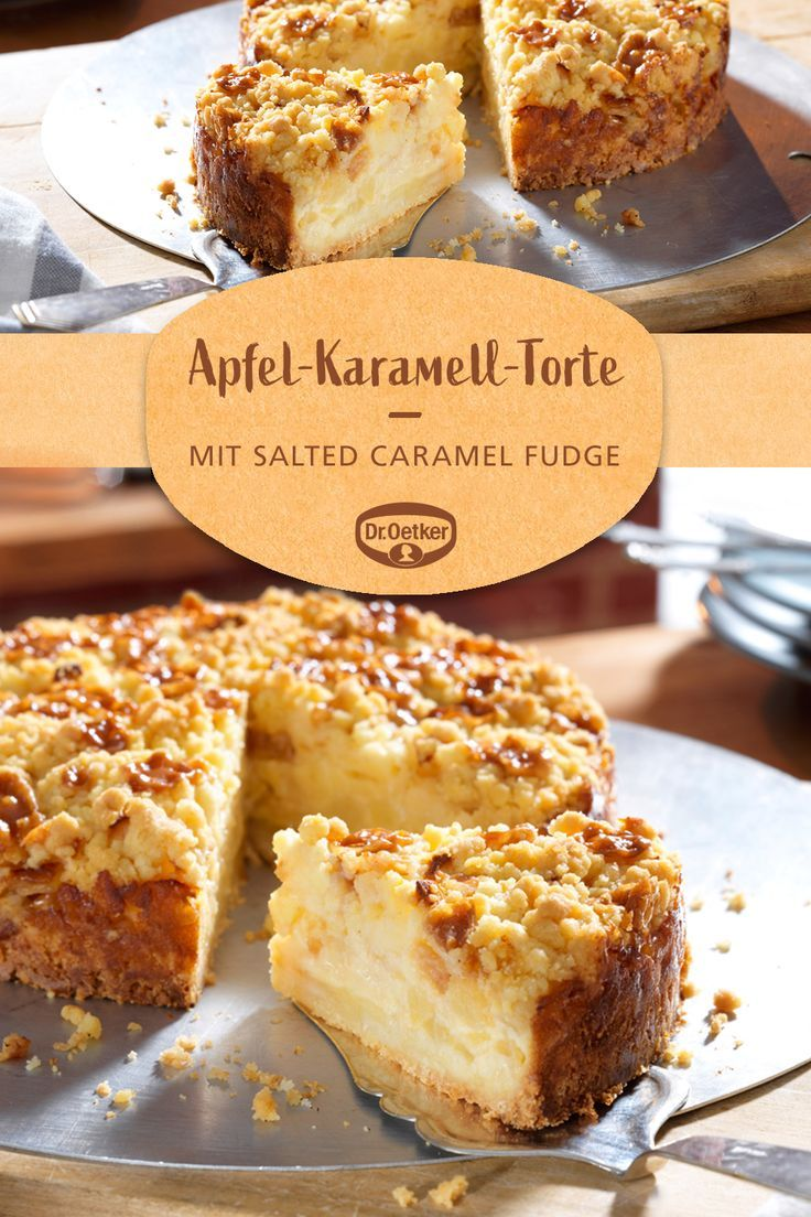 Kleine Apfel Karamell Torte Rezept Karamell Torte Karamellkuchen Kleine Kuchen Backen