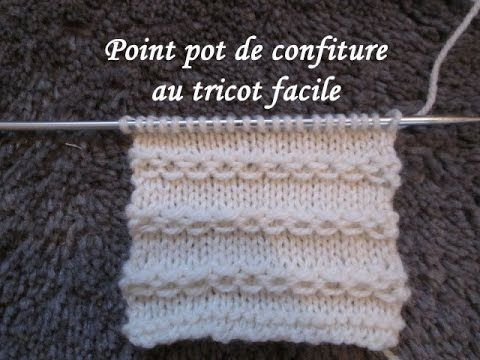TUTO POINT CHAINETTE OU CONFITURE AU TRICOT stitch knitting PUNTO TEJIDO...
