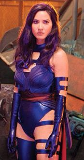 Olivia Munn as Psylocke in X-Men Apocalypse with Purple ...