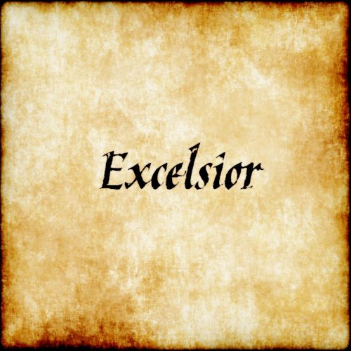"""Excelsior - Higher.                                                  ex·cel·si·or  ikˈselsēər/  noun  noun:Excelsior; noun:excelsior; plural noun:excelsiors  used in the names of hotels, newspapers, and other products to indicate superior quality.  """"they stayed atthe Excelsior""""  NORTH AMERICAN  softwood shavings used for packing fragile goods or stuffing furniture.  Origin  late 18th century (as an exclamation): from Latin, comparative ofexcelsus, fromex-'out, beyond' +celsus'lofty.'"""