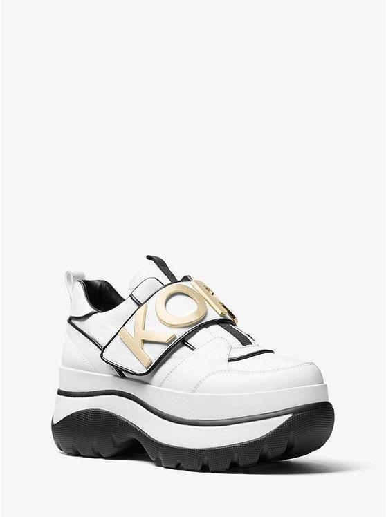 dd91c6e6a402 25% off   MICHAEL KORS! Including Cortlandt Embellished Leather Platform  Trainer in White ~ Today s Fashion Item