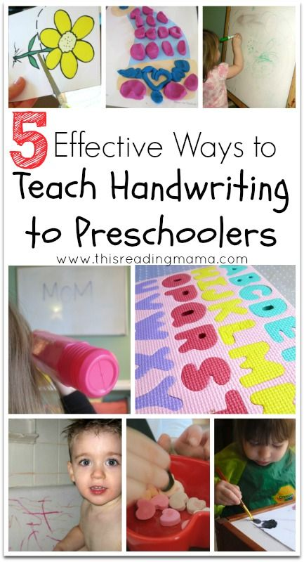 5 Effective Ways to Teach Handwriting to Preschoolers   This Reading Mama