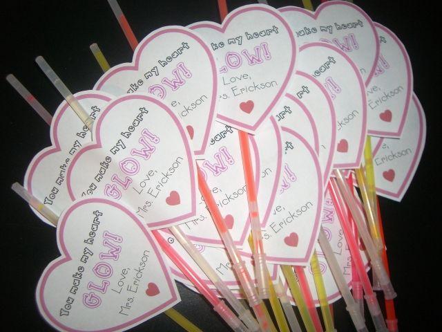 valentine gift: Valentine'S Day, Glow Sticks, Valentines Ideas, Heart Glow, Valentines Day, Valentines Gifts, My Heart, Valentine'S S, Kid