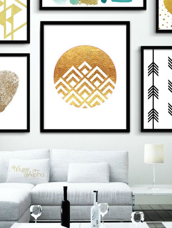 INSTANT DOWNLOAD: Printable Gold Triangles Art _____________  ★ AMAZING VALUE BUNDLE! ★ You will receive 10 instant download items in this one listing purchase. Items: 10 printable files Sizes included: 4x6, 5x7, 8x10, 11x14, 12x16, 20x20, 24x30, A2-size Greeting card, Envelope & Envelope Liner. Resolution: 300 dpi  ★ BUY MORE & SAVE MORE ★ 10% off $10 purchase: MuseAlpha10 15% off $15 purchase: MuseAlpha15 20% off $20 purchase: MuseAlpha20 25% off $25 purchase: MuseAlpha25 30% off $30…