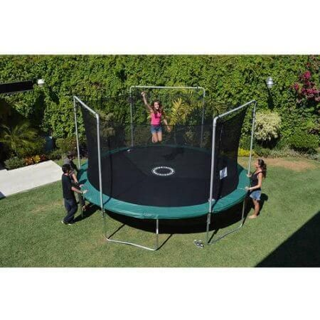 BouncePro 15' Trampoline and Enclosure Combo with Electron Shooter Game