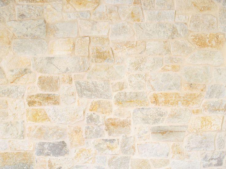 Close up of Eco Outdoor Coolum random ashlar stone walling.| Eco Outdoor…
