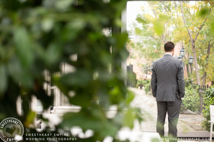 Groom waiting for first look / bride reveal, The Grand Hotel Toronto > Sweetheart Empire » Wedding Photographer #sweetheartempirephotography