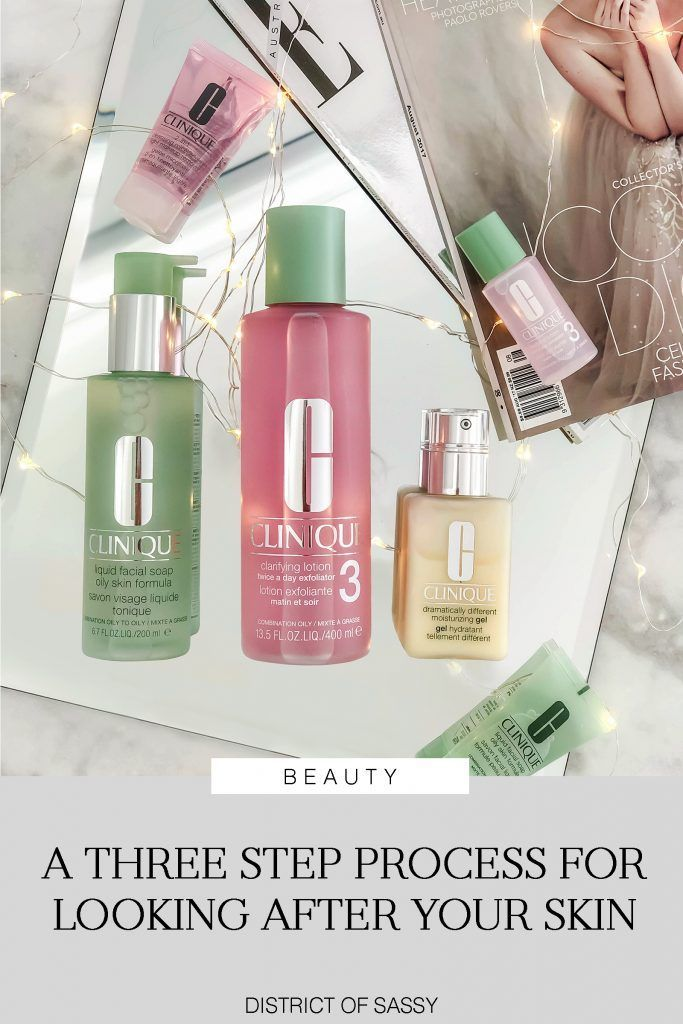 Clinique 3 Step Skincare System District Of Sassy Skin Care System Skin Care Gifts Morning Skincare