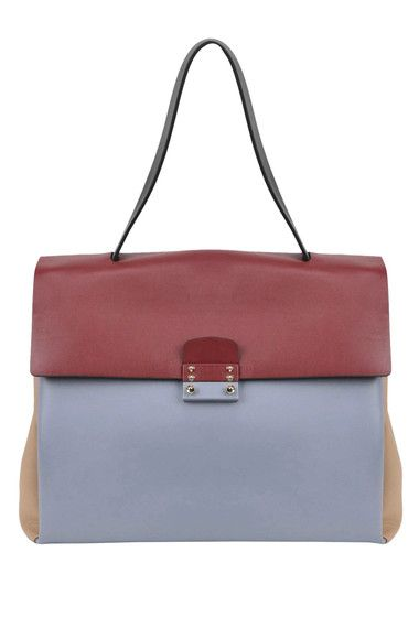 Buy Valentino Bags on glamest.com Fashion Outlet, select the Valentino Color block leather tote bag of your choice up to 40% off.