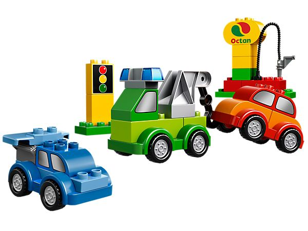 Combine and create cool vehicles! Current favourite pieces are the ones with wheels, Poppa will be proud :-)