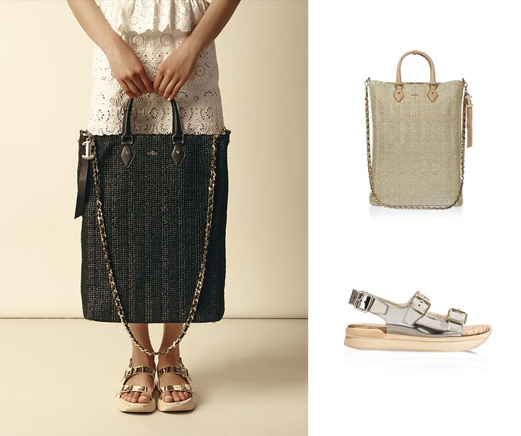Summer glamour.  #HOGAN Big Tote bag and sandals from the Women's Spring-Summer 2015 Collection.