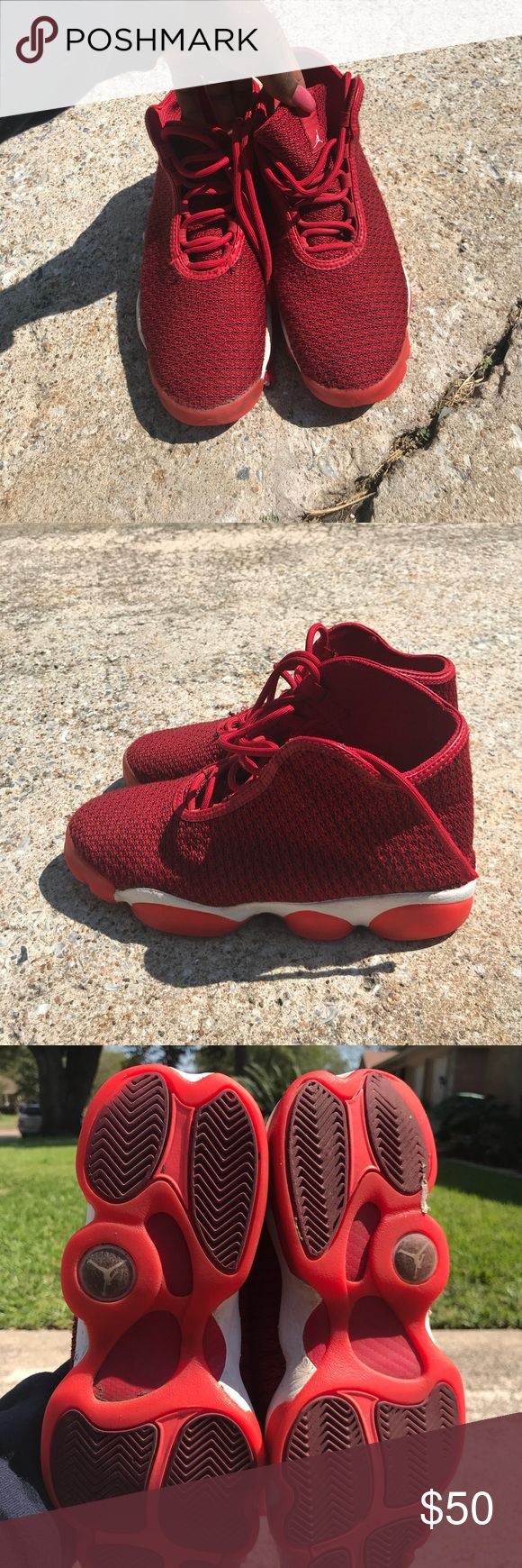 Size 7 Red Authentic Jordan's Size 7 Red Authentic Jordan's  Good condition  Boys or Girls tennis shoes Jordan Shoes Sneakers