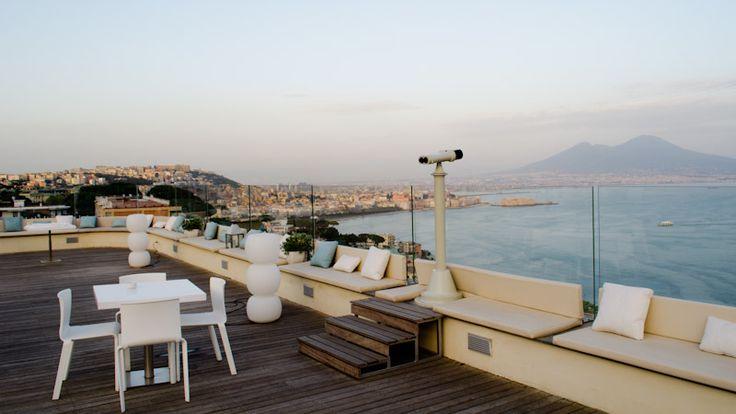 Vesuvio view in Villa Diamante, Naples (Italy).  Conference center.